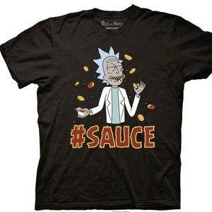 Rick and Morty Szechuan #SAUCE Black Large T Shirt